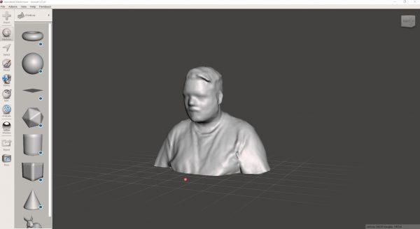 Screenshot 3D scan Lennart Meshmixer